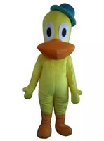 Wholesale White Duck Costume - Real Pictures yellow duck mascot costume adlut suit parrot cartoon character mascots for sale