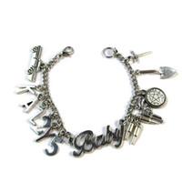 übernatürlichen charme armband großhandel-6pcs Supernatural inspiriert Armband KAZ2Y5 Charm Armband Silber Ton Impala Charms Armband