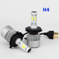 Cheap led hi lo beam headlight - 2 PCS LED Car Headlight Bulb Hi-Lo Beam COB Headlights 72W 8000LM 6500K Auto Headlamp 12v 24v H4 H7 H8 H13 9005 9006