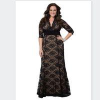 Wholesale Mother Bride Casual - Women's Plus Size Maxi Dress Long Little Black Lace Dresses 5xl 6xl Mother of the bride dresses