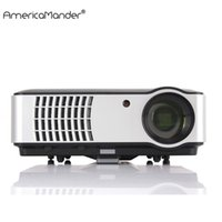 Wholesale 3d Home Theater System - Wholesale-300inch Android System Full HD 1080P 3000lumens 1280*800 Video HDMI USB LED Home Theater TV 3D Projector Beamer Proyector