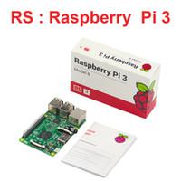 himbeere pi freies verschiffen großhandel-Großbritannien machte Raspberry Pi3 Modell B 1 GB 1.2GHz 64bit Viererkabel-CPU WIFI Bluetooth Raspberry Pi3 Brett RS Version Freies Verschiffen