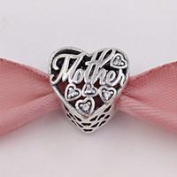 Wholesale Mother Son Bracelets - Mothers Day 925 Sterling Silver Beads Mother & Son Bond Charms Fits European Pandora Style Jewelry Bracelets & Necklace 792109CZ Mom Gifts