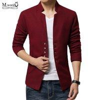 Wholesale Winter Jacket Brands Korea - Wholesale- 2015 new brand korea Men slim fit jacket solid blazer coat casual men jacket autumn winter homme jaqueta