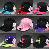 Wholesale Ny Snapback Adjustable - Fashion NY baseball caps men women Trend Adjustable Basketball hats snapback flat along the spring summer dance cap peaked cap High-quality