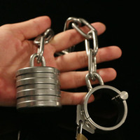 Wholesale cbt cock ball for sale - Group buy 2017 New Arrivval Stainless Steel Ball Stretcher Metal Cock Rings Chastity Male Scrotum Stretching Bondage Device Adult CBT Sex Toys For Men