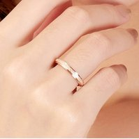 Top Quality Rose Gold Plated Titanium Steel Simple Frosting Fine 2mm Depth Cheap Women Ring, US Tamanho 3 ao tamanho 10 disponível