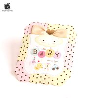 Wholesale greeting cards print - Baby Shower Christening Baptism Birthday Party Invitation Greeting Cards Postcards Printing Custom Baby Duck 50Pcs Cw 6007