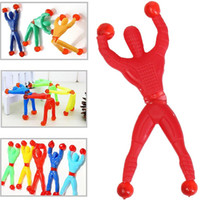 Wholesale Sticky Men - Wholesale- 10PCS Sticky On Wall Climbing Tumbling Climber Men Party Kids Toys Fun Favors Supplies Pinata Fillers Birthday Gift For Children