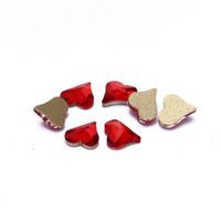 Wholesale Heart Sharp - Nail Rhinestones 50pcs Sharp Heart Shape Glass Stone For Nail Decorations Flatback Nail Stickers DIY Craft Stones