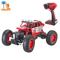 Wholesale Rc Truck Waterproof - Wholesale- New 1:18 Scale Waterproof 4WD Strength Toys for Kid High Speed Electronics Remote Control Truck RC Racing Cars Toys for Children