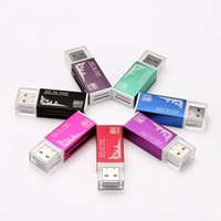 Wholesale memory stick micro reader - All in one USB 2.0 Multi Memory Card Reader for Micro SD TF M2 MMC SDHC MS Memory Stick