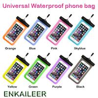 su geçirmez cep telefonu çantası toptan satış-Kamuflaj Su Geçirmez Çanta Su Geçirmez Çanta kol bandı kılıfı Evrensel Su geçirmez kılıfları tüm iphone 7 Için Kapak Cep Telefonu çanta DHL ücretsiz kargo