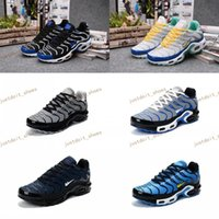 Unisex outdoor canvas material - 2017 New Max TN Men High Quality Running Shoes TN Nanotechnology KPU Material Classical Durable Sport Sneakers Size