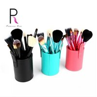 Wholesale red make up brushes - Princess Rose 12pcs Make Up Brush Set Makeup Brushes Kit Pinceis Maquiagem Pincel Pinceaux Maquillage +Leather Brush Holder