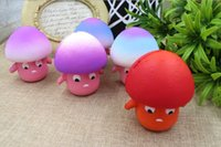 Wholesale Toy Mushrooms Kids - wholesale Squishy 9cm Kawaii Mushroom Slow Rising Squeeze Toy Relieve Anti Stress Reduce Autism Fidget Toy For Kids Adults Toy Gift