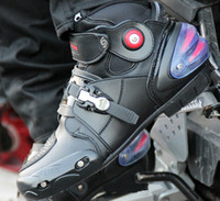 Wholesale Moto Racing Boots - New Automobile Racing shoes off-road motorcycle boots Professional moto black botas Speed Sports Motocross Black and can drop ship