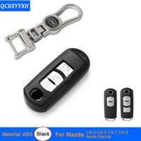 caso de la cubierta de la llave mazda al por mayor-Aleación de zinc + caja dominante del coche de plástico para Mazda CX-3 Axela CX-4 Atenza CX-5 CX-7 caja dominante del coche de CX-9