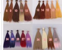 Wholesale Blythe Hair - 1pcs 25cm*100cm BJD hair for blythe doll hairs for 1 3 1 4 1 6 Ball jiont doll