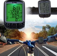 Wholesale Computers Displays - Bicycle Computer Waterproof Cycling Odometer Speedometer With LCD Display Bike Computers Digital Cycle Bike Computer KKA2364