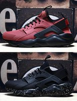 Wholesale Shoes Soft Inside - 2017 Air Huarache 4 IV Run Ultra PK4 Wallace Low Cut Running Shoes For Men Inside Air Cushion Outdoor Sneakers Triple Breathable Soft Boost