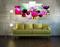 paintings of abstract flowers - 2017 canvas colorful flowers of high quality decoration picture printed on the canvas