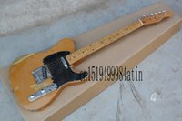 Wholesale Top Quality Telecaster - wholesale Free Shipping !! Top Quality F Telecaster Nice Maple Neck Electric Guitar Black Pick Guard 21 fret Hot Guitar In Stock @15