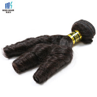 Wholesale cheap twist hair - 3 Pcs Franch Twist Curly Human Hair Extensions Brazilian Loose Curly Cheap Unprocessed Human Hair Weave Brazilian Hair Bundles