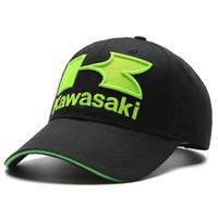 Wholesale Motogp Hats - 2017 caps Cool green Motorcycle Racing embroideried kawasaki K cap Hat MOTOGP baseball cap dad hat bone Casquette