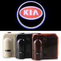 Wholesale K3 Cerato - 2X Car Door Lights LOGO Ghost Shadow for KIA rio sportage ceed rio k2 cerato sorento k3 k5 Welcome Lamps Universal Wireless Warming
