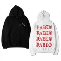 hoodies kadın xxxl toptan satış-erkekler kadınlara uzun kollu kapşonlu hip hop sonbahar gündelik üst tişörtü S-XXXL için Pablo Kanye West kazak hoodies Of Yaşam