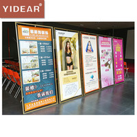Wholesale YIDEAR x180cm Anti rust Outdoor Poster Frame Display Stand Advertising Shelf Rack only frame without poster