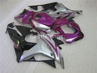 Wholesale Cbr Body Parts - Injection body parts fairing kit for Honda CBR600RR 07 08 purple silver black fairings set CBR 600RR 2007 2008 YT37