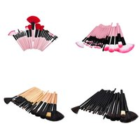 Wholesale Makeup Brushes 32 Set Pro - New 24 32 pcs set Makeup Brushes Pro Cosmetic Kabuki Makeup Brush Kit Eyeshadow eye lip Blush Brush Foundation Makeup Brush Kit Tools