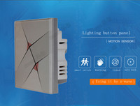 interruptores de onda z venda por atacado-Atacado-Promation Frete Grátis, Wiressless 2 botão de controle inteligente interruptor do painel de tecnologia Z-WAVE Interruptor de toque