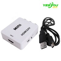 HDMI Interface Mini HD Converter audio analógico digital Video a 2AV / CVSB Adapter Support NTSC y PAL Output