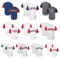 Customized stitched any name number Men s USA Canada Puerto Rico Dominicana  Italy Mexico Baseball 2017 World Baseball Classic Team Jersey cfc65f5dc