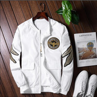 Wholesale Military Jacket For Thin Men - Kanye west Harajuru Men Bomber Flight Pilot Jacket Thin Flying Jacket Military Air Force Embroidery Yokosuka Baseball Uniform For Men Women