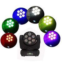 ingrosso testa mobile testa cree-DMX512 7X12W CREE LED Moving Head Raggio RGBW DJ Disco Stage Party Lighting