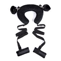 Wholesale Adult Room Colors - 3 Colors Hot Room Funny Pillow Bondage System Lovers ML Flirting Sex Handcuffs Hands and Legs Bundled Belt Adult Sex Toys