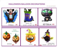 Wholesale Boots Balloon - hot sales 6 choices Halloween balloon pumpkin black cat boots wizard bat holidays decorations children belove helium balloon