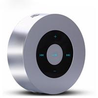 altavoz micro reproductor de mp3 al por mayor-ARONTIME A8 Portátil Inalámbrico Mini Altavoz Bluetooth Reproductor de MP3 Soporte de manos libres Llamada Tarjeta Micro SD con caja de metal Radiador pasivo