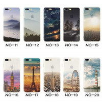 Wholesale Eiffel Iphone - For Apple iphone 6 6S plus iphone 7 plus silicone case landscape Plating TPU cell phone cases Elizabeth Tower Eiffel phone cover