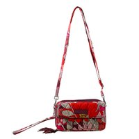 Wholesale One Shoulder Flower Girl - VB Flower cotton RFID All in One Crossbody Bag Shoulder Bag Purse Satchel Messenger Handbag