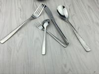ingrosso coltelli martellati-Stoviglie per coltelli Lotus Stoviglie per coltelli e forchette in acciaio inox di alta qualità Serie di posate in stile occidentale Set di posate per lucidatura a specchio