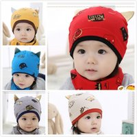 Wholesale Children Boy Sleeping Wear - New Fashion Baby Newborn Cotton Printed Hats Caps Infants Toddlers Cool Cats Design Caps Hats Girls Boys Children Kids Sleep Caps Hats Wear