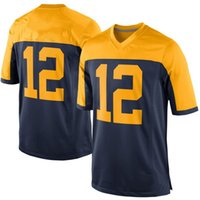 Wholesale Youth Football Jerseys China - Youth American Football 100% Polyester Rodgers 52 Jerseys 12 cheap Sportwear 17 jersey 87 china wholesale
