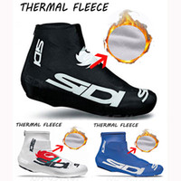 Wholesale Winter Cycling Fleece - 2017 New Winter Fleece Thermal SIDI Shoes cover Bicycle Cycling Overshoes Pro Road Racing MTB Bike Cycling Shoes Cover Sports Shoes Cover