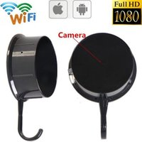 WIFI Wall Hook Câmera escondida HD 1080P Clothes Hook câmera pinhole Nanny Cam Wireless Spy Revestimento de filme Camcorder Motion Dection Vista remota