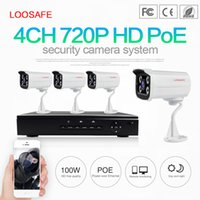 Wholesale High Resolution Cctv Systems - LOOSAFE 4CH 720P POE NVR Security Camera System NVR with 8PCS 2.0Mega-Pixels 1920X1080 High Resolution CCTV IP Surveillance